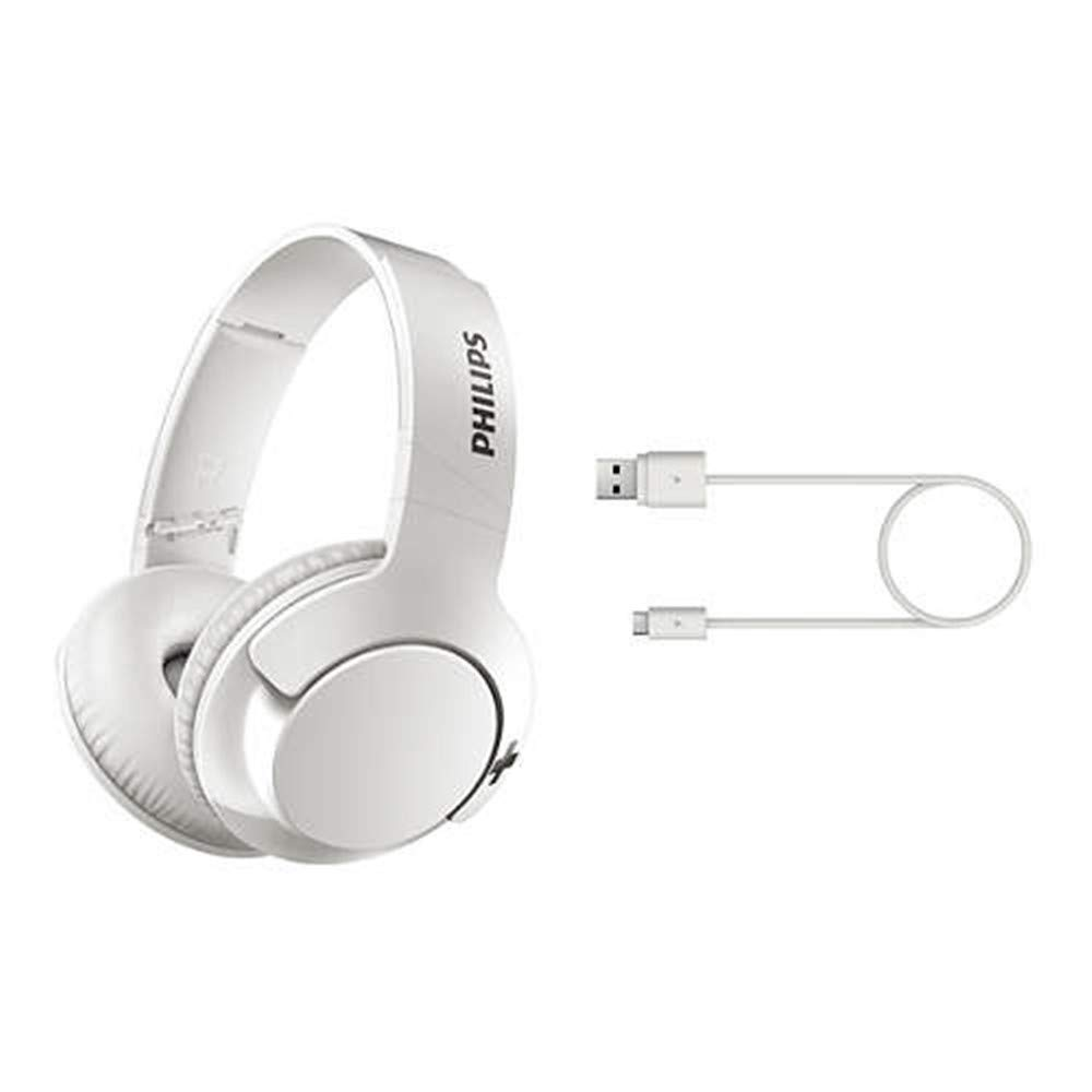 Philips Bluetooth Headphones With Microphone Noise Cancelling Wireless Headphones Deep Bass Over Ear Foldable Hi Fi Stereo Headset Shb3175
